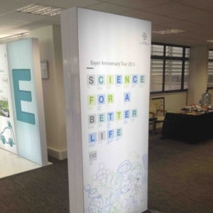 Swift Displays lightbox banner stand