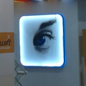 Swift Displays lightbox wall frame