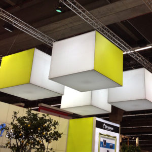 Swift Displays hanging lightboxes