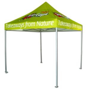 Swift Displays gazebo branding