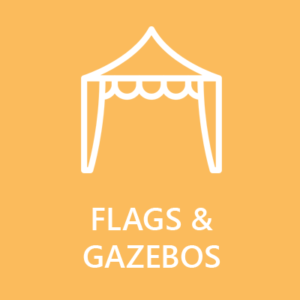 flags and gazebos